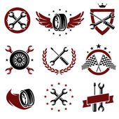 Car service set — Stock Vector