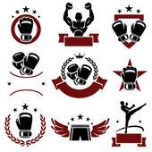 Boxing labels — Vector de stock