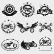 Motorcycles labels — Stock Vector #46177259