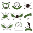 Golf labels and icons set. — Stock Vector