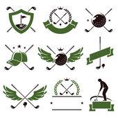 高尔夫球场的标签和图标集. — 图库矢量图片