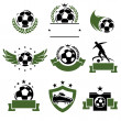 Football and soccer labels — Stock Vector #47320939