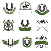 Horse and polo set. — Stock Vector