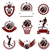 Basketball labels — Vecteur