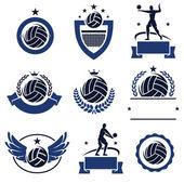 Handball labels — Stock Vector