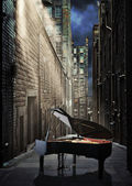 Moonlight Piano — Stock Photo