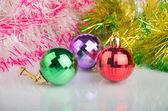 New Year's spheres, happy Christmas — Stock Photo