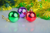 New Year's spheres, happy Christmas — Stock Photo