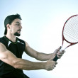 Stock Photo: Bearded tennis player