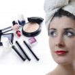 Stock Photo: Makeup compilation
