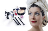 Makeup compilation — Stock Photo