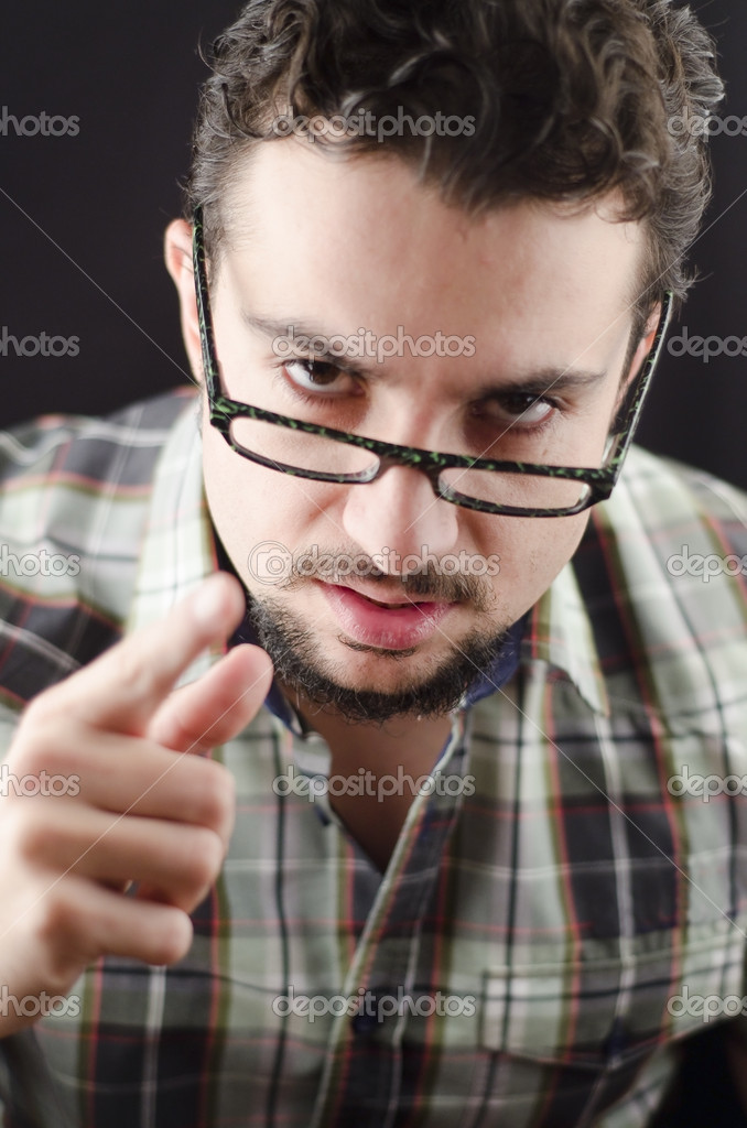 Conceptualimage of an angry man — Stock Photo #14130804
