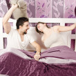 Pillow fighters — Stock Photo