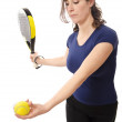 Stock Photo: Paddle serve