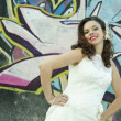 Graffit bride. — Foto Stock
