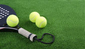 Paddle tennis objecs — Stock Photo