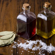 Mediterranean oil and vinegar. Salt scales — Foto Stock