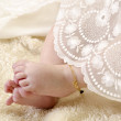Stock Photo: Baby feet