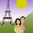 Eiffel Love — Stock Photo