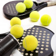 Stock Photo: Paddle Tennis on white
