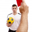 Red card! — Stock Photo
