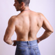 Mens back — Stock Photo