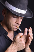 Mafia smoker! — Stock Photo
