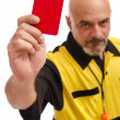 Red card!!... go out!! — Stock Photo