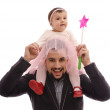 Baby on shoulders — Stock Photo #34732119