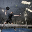 Stock Photo: Paddle tennis smash