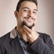 Stock Photo: Goatee expressive man