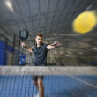 Stock Photo: Paddle tennis master
