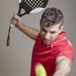 Paddle tennis master — Stock Photo