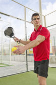 Paddle tnnis player redy for match — Stock Photo