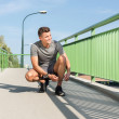 Jogging in city — Stock Photo