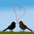 Stock Vector: Birds with love
