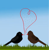 Birds with love — Vettoriale Stock