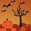 Halloween scene — Stock Vector #13444313