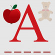 A for apple vector - Stockvektor