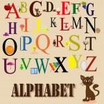 English alphabet for children — Stock Vector #13627923