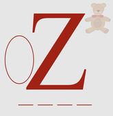 Z for zero vector — Stock Vector