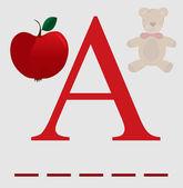 A for apple vector — Stock Vector