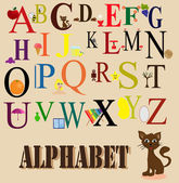 English alphabet for children — Stock Vector