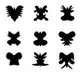 Conjunto de silueta de mariposa — Vector de stock