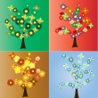 Seasonal trees — Vector de stock #13780648