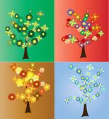 季节性的树木 — Stock vektor