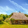 Holiday apartment - wooden cottage in forest — Stockfoto