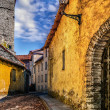 Stock Photo: Old europestreet. Estonia, Tallinn