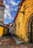Old european street. Estonia, Tallinn — Stock Photo