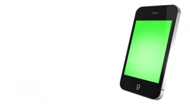 IPhone 4s with green screen — Stock Video